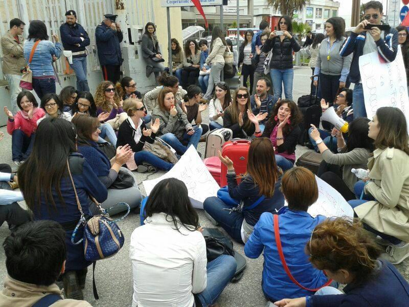 Manifestazione Cgil ex stagisti Regione