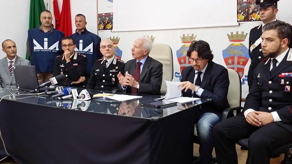 Conferenza arresti Lamezia Terme Chimera 2
