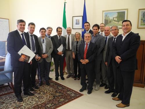 Enzo Bruno visita prefetto Cannizzaro
