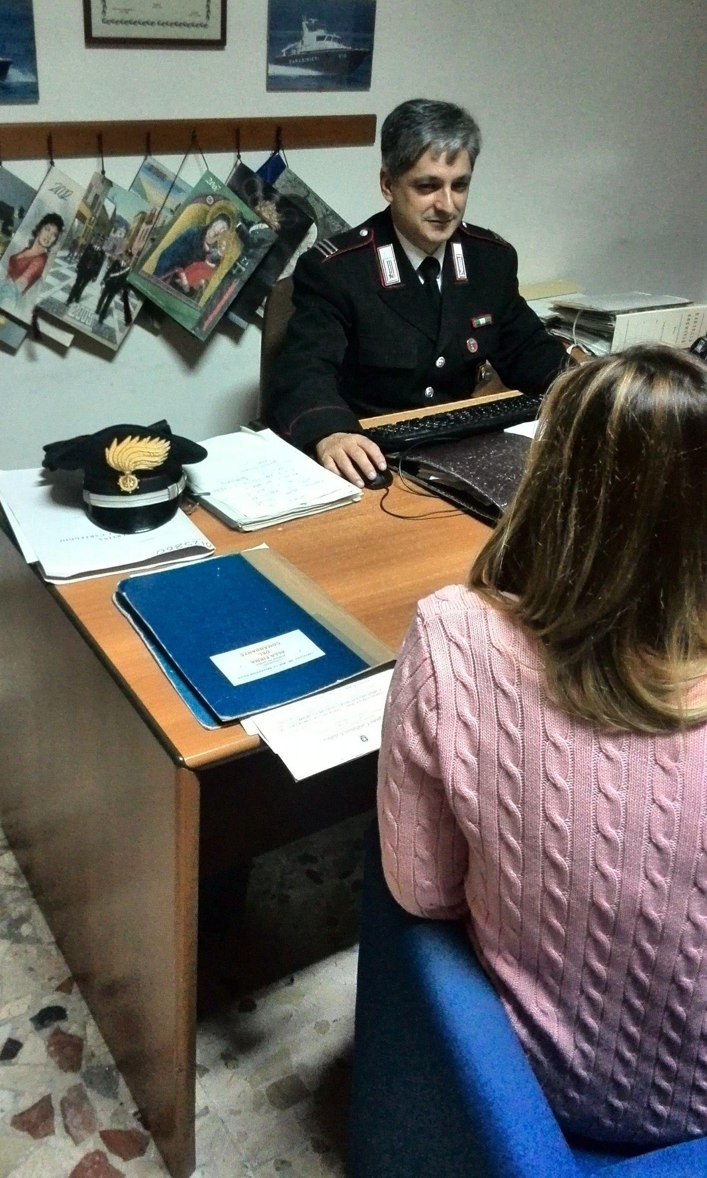 stalking denuncia carabinieri violenza