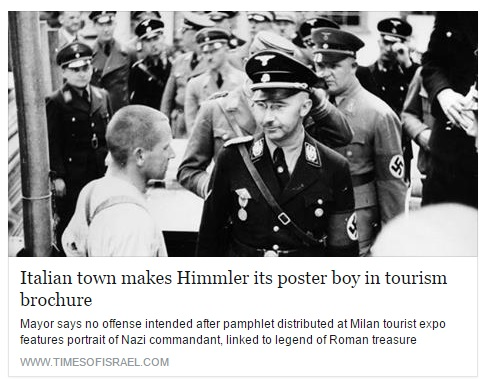 Brochure su Himmler di Cosenza finisce sulla stampa Israeliana