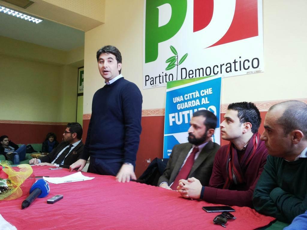 L'intervento di Antonio Lo Schiavo alla conferenza stampa Pd
