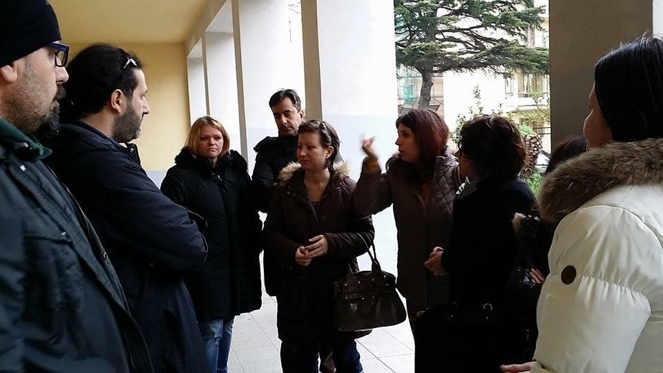 Protesta genitori scuola Murano Catanzaro