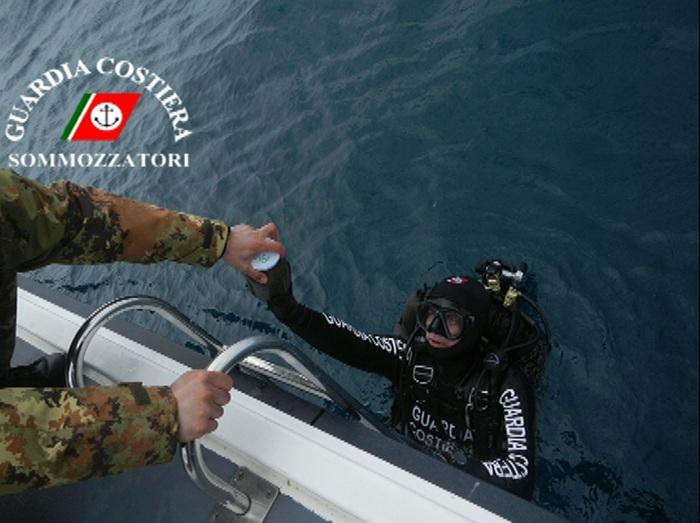 Guardia costiera controlla fondali del Tirreno cosentino