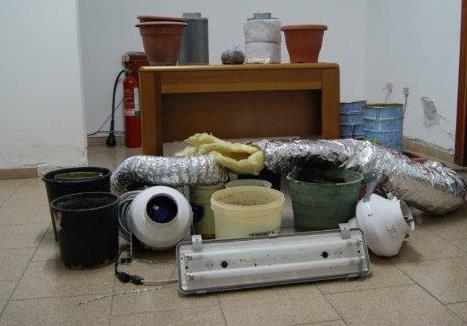 Africo arresto 25enne materiale per coltivazione