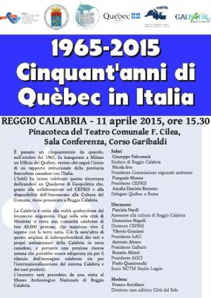Convegno Québec Reggio Calabria