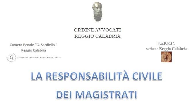 Convegno responsabilità civile magistrati Reggio
