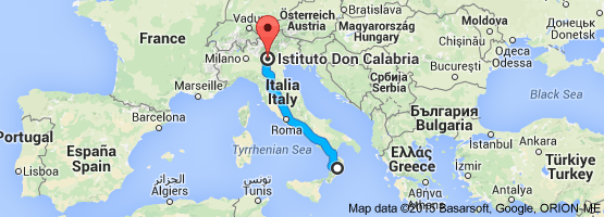 Distanza Calabria Veneto