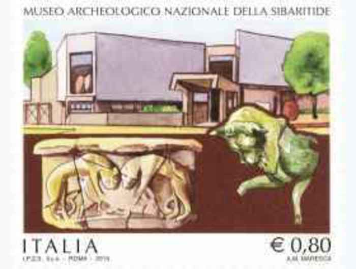 francobollo museo archeologico Sibaritide