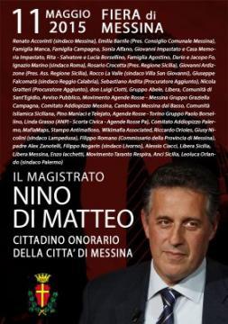 Messina Locandina cittadinanza onoraria Di Matteo