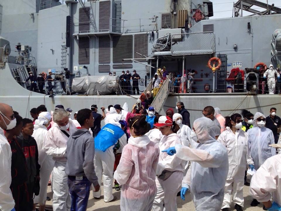 Migranti Reggio Calabria 16 maggio 2014