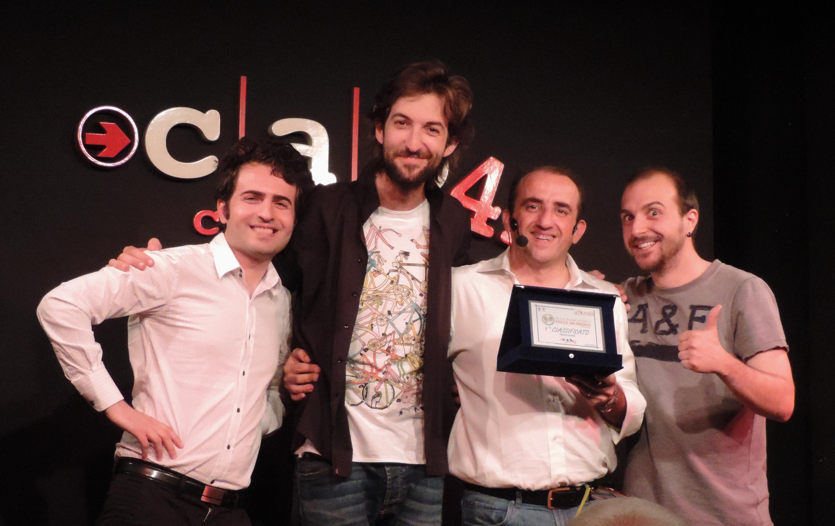 1° classificati Bella Domanda Festival Facce da Bronzi