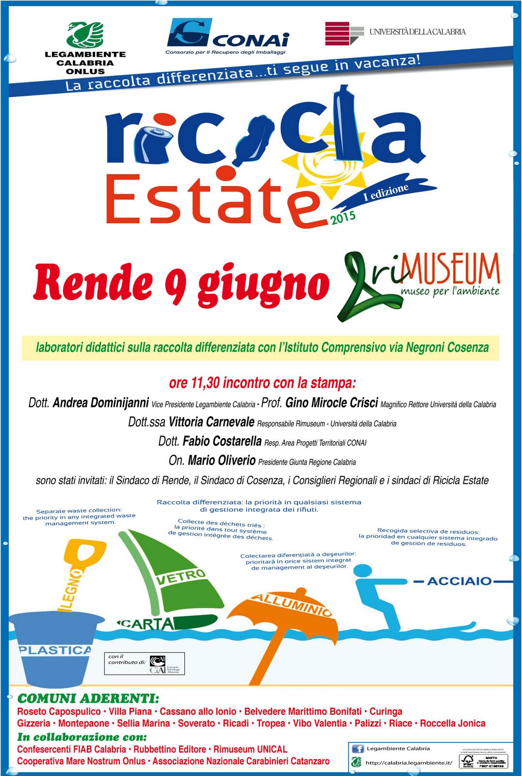 Manifesto ricicla estate