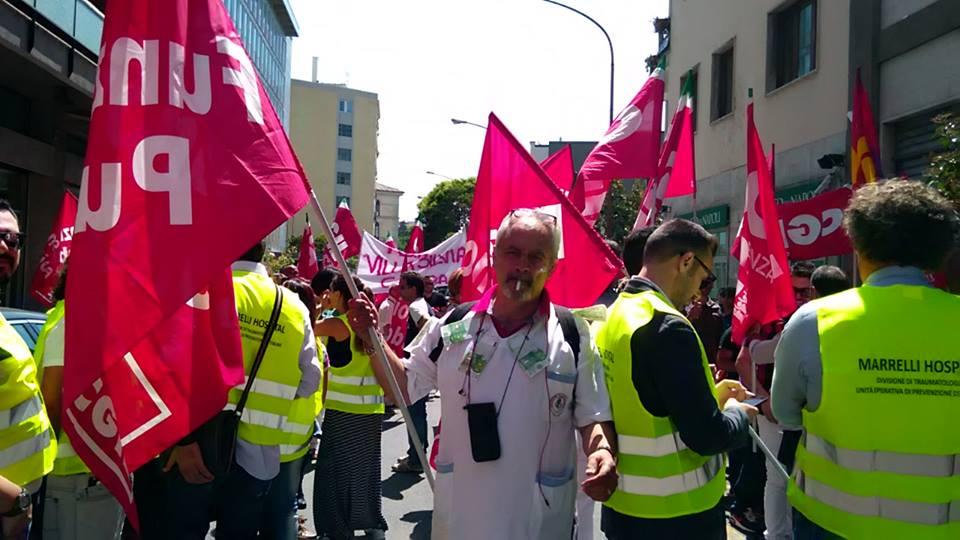 Manifestazione Fp Cgil Catanzaro Sanità privata