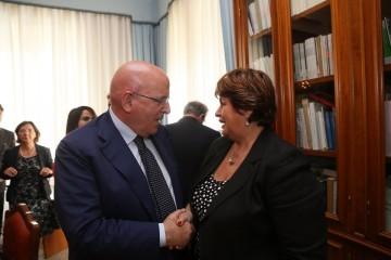 Mario Oliverio con Angela Napoli