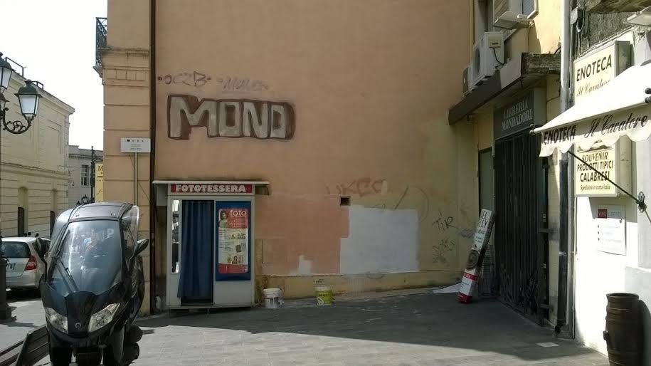 Pulizia centro storico Catanzaro - angolo corso mazzini prima