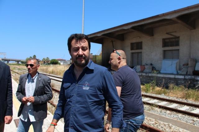 Matteo Salvini in Calabria