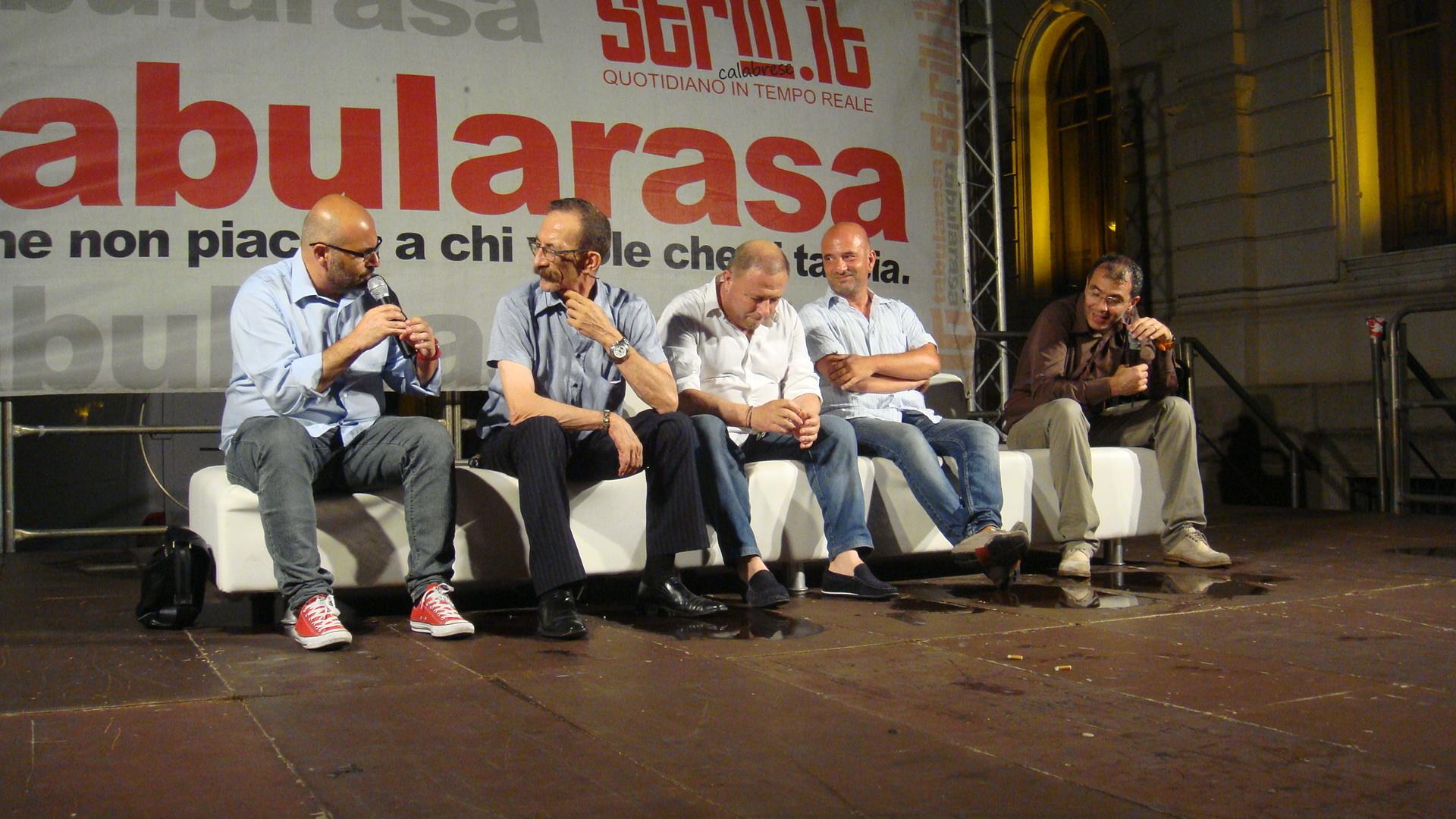 Tabularasa 2015 - Raffaele Mortelliti, Pino  Maniaci, Michele Albanese, Alessandro Russo, Giusva Branca