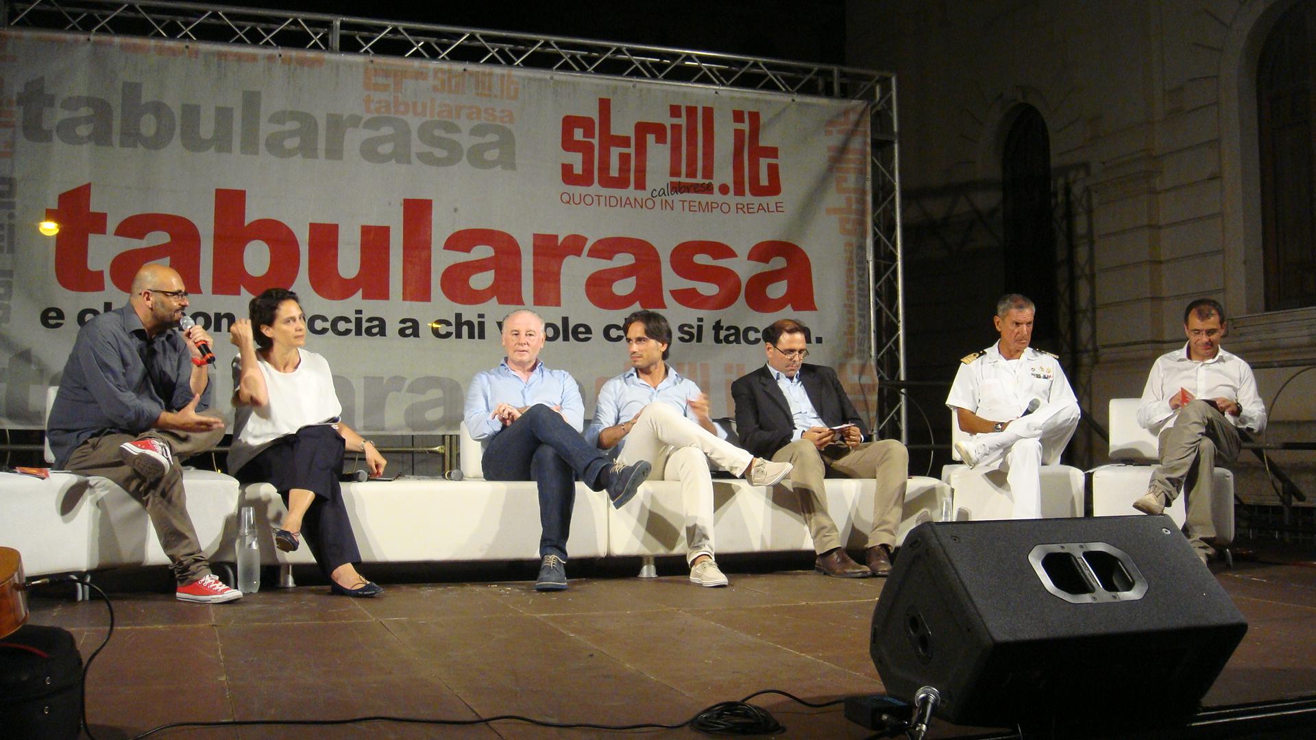 Tabularasa 2015 - da SX Raffaele Mortelliti, Ilaria Bonaccorsi, Giuseppe Raffa, Giuseppe Falcomatà, Antonio Messina, Andrea Agostinelli, Giusva Branca (2)