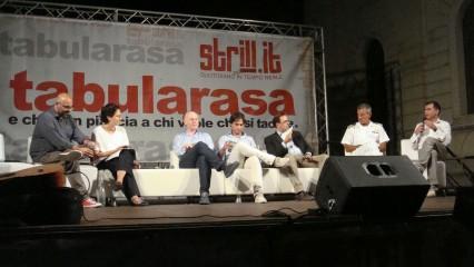 Tabularasa 2015 - da SX Raffaele Mortelliti, Ilaria Bonaccorsi, Giuseppe Raffa, Giuseppe Falcomatà, Antonio Messina, Andrea Agostinelli, Giusva Branca