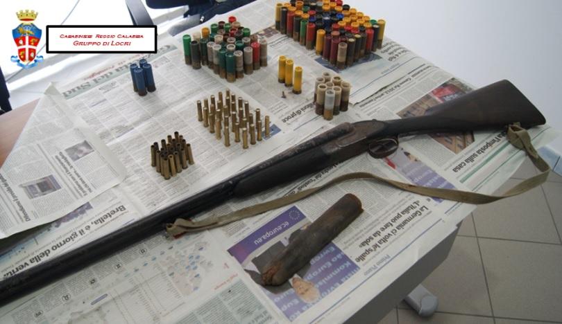 Gruppo Locri - Fucile sequestrato