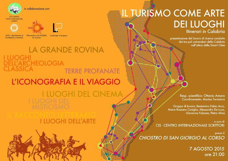 """Il Cis presenta """"Il turismo come arte dei luoghi. La Calabria"""" a cura del gruppo di ricerca Landscape in progress"""