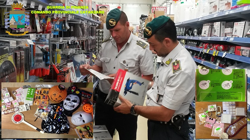 Guardia di Finanza sequestra maschere halloween