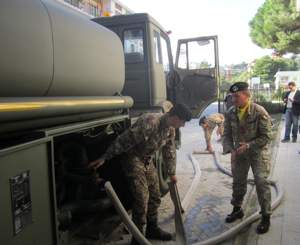 Esercito al lavoro a Messina