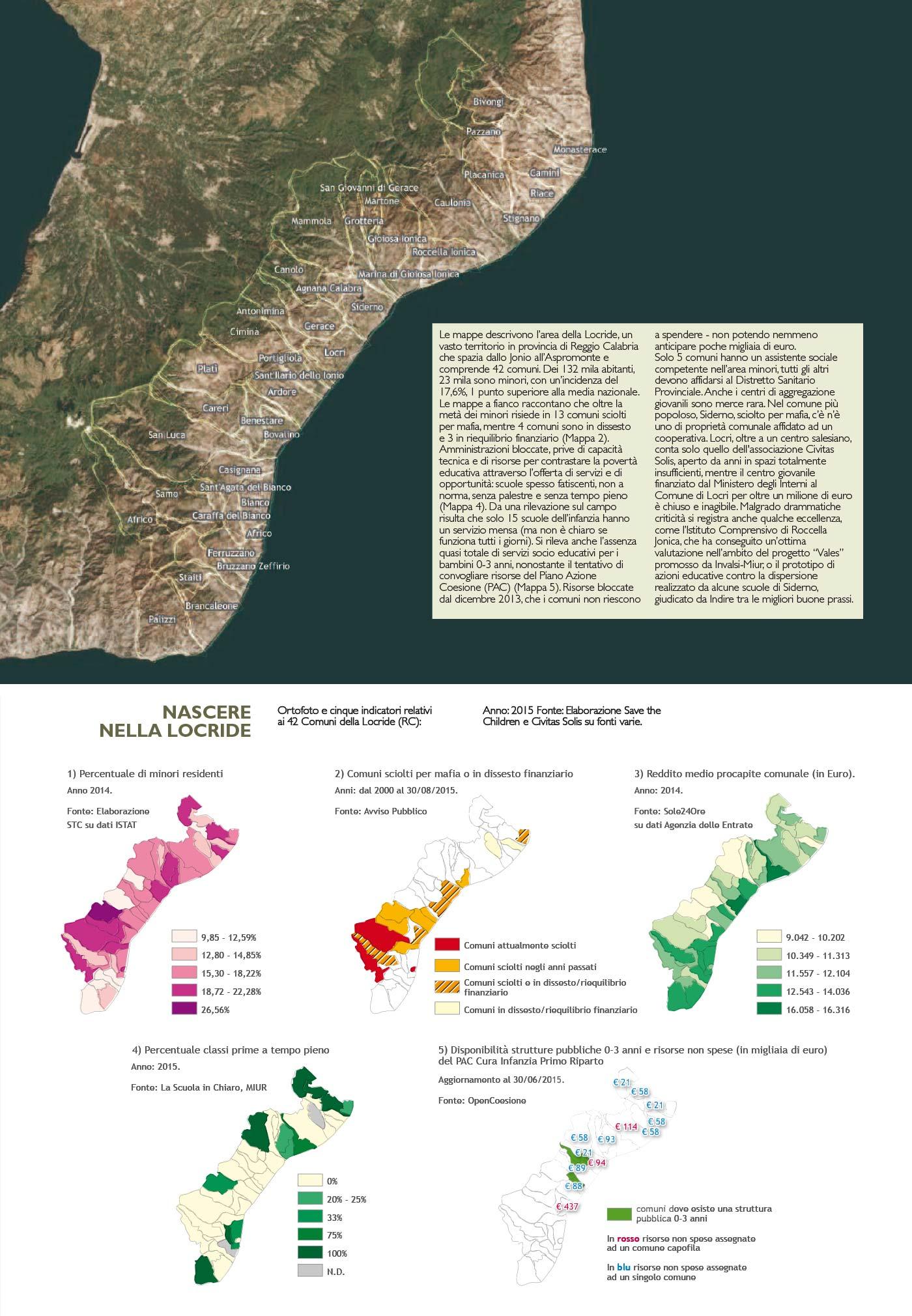 Save the children 6° Atlante dell'infanzia a rischio - Mappa nascere nella locride