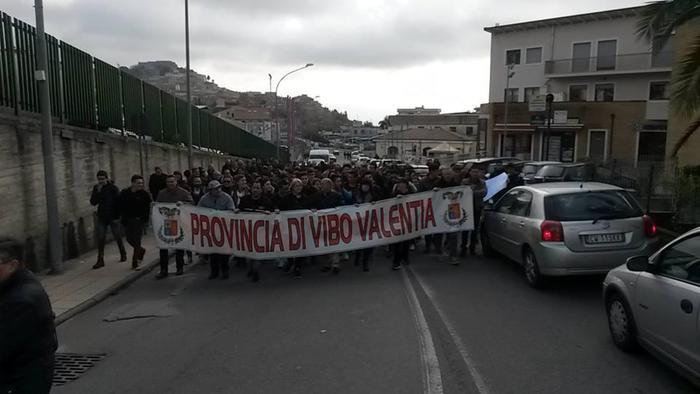 Manifestazione a Vibo Valentia