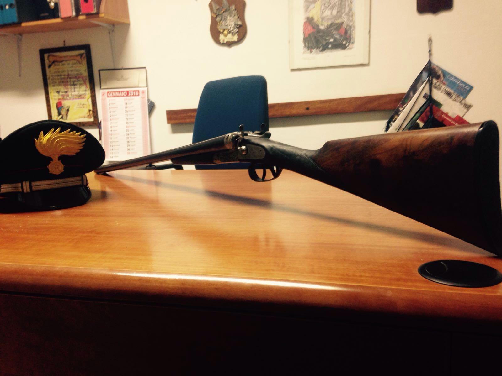 Arma sequestrata a Gimigliano