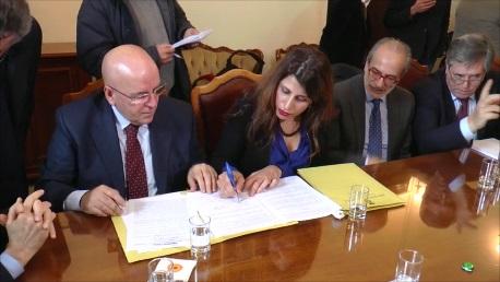 Firma protocollo accordo lavoro e tribunale