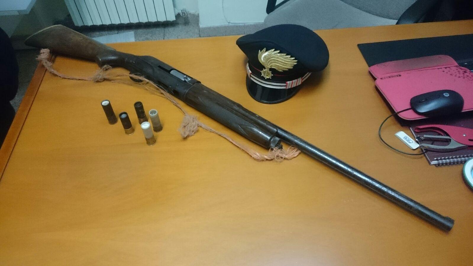 Fucile sequestrato a Catanzaro