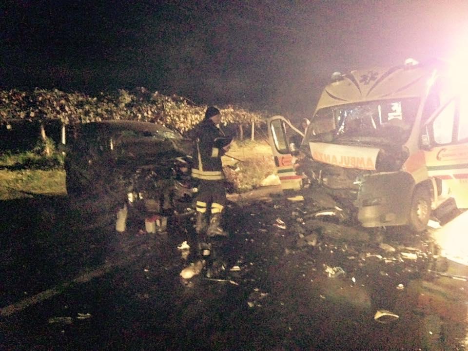 Incidente Taurianova auto contro ambulanza