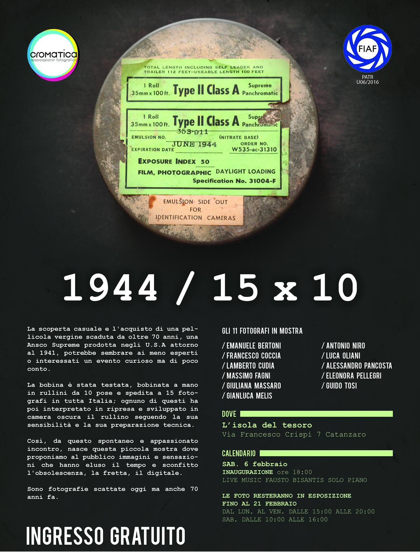 """1712d5870fdf99 Dopo essere stata esposta in diverse città italiane, approda anche a  Catanzaro, su iniziativa dell'associazione fotografica """"Cromatica"""", ..."""