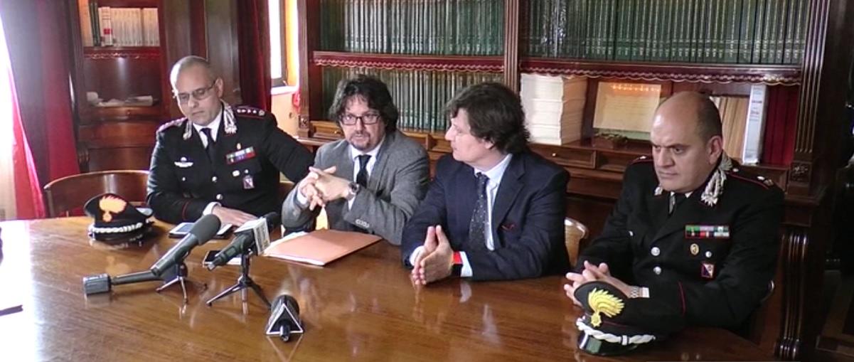Arresto Sandro Principe conferenza stampa