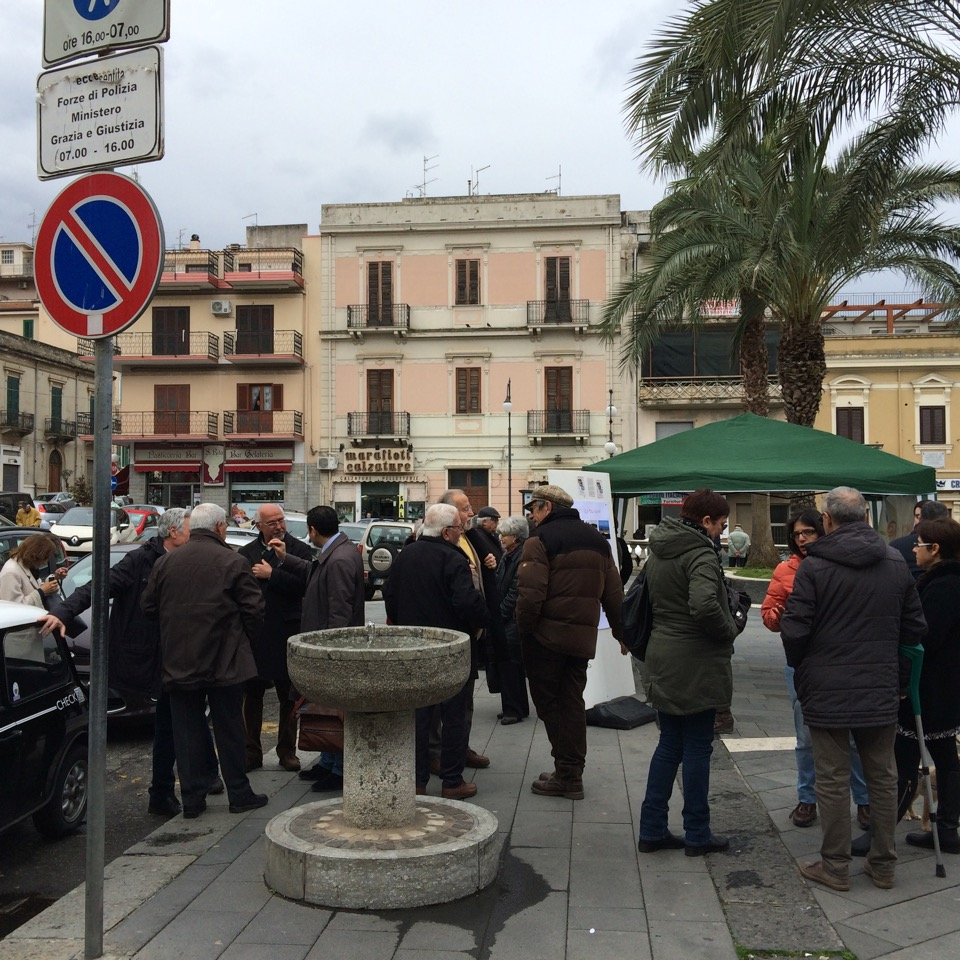 Palmi, Sit in di protesta del Circolo Armino