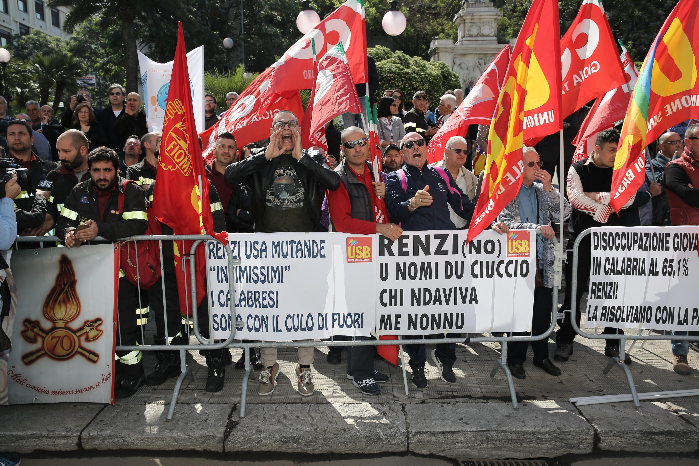 Inaugurazione Museo di Reggio - Protesta lavoratori