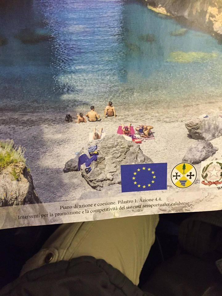 Rivista Ryanair pubblicità Regione Calabria