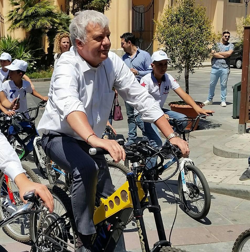 Galletti sulla bici del vallauri per Parco Aspromonte