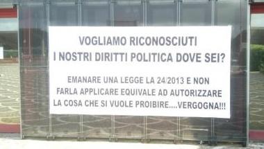 Protesta Fondazione Terina