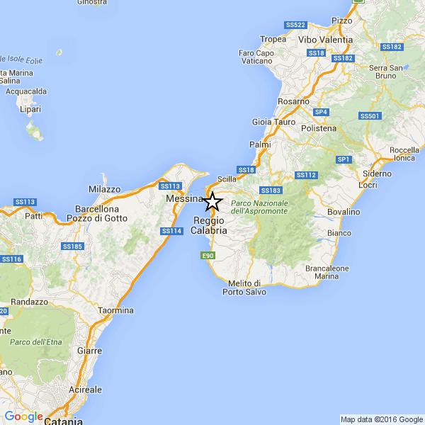 Reggio Calabria Cartina Geografica.Scossa Di Terremoto A Reggio Calabria Epicentro In Citta Strill It