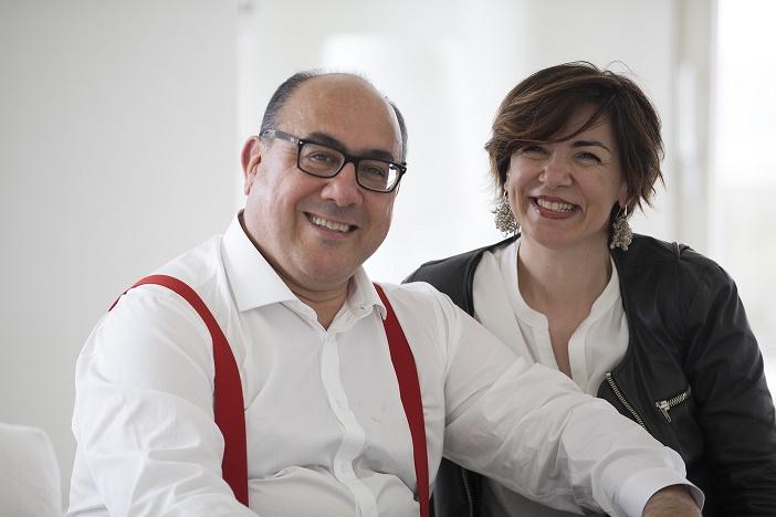 Carlo Guccione con la moglie Monica Zinno