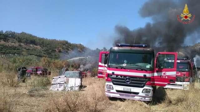 Incendio GoKart Locri