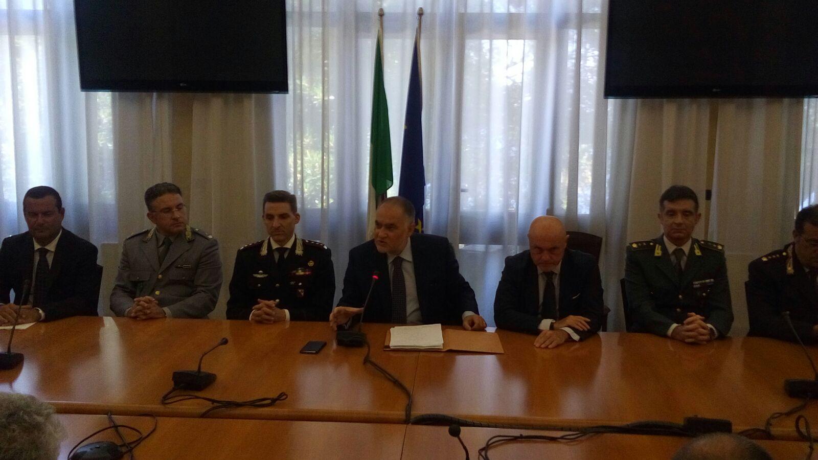 Incontro prefettura Reggio sicurezza