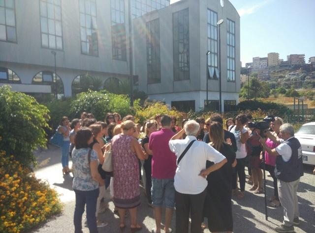Protesta docenti Reggio Calabria