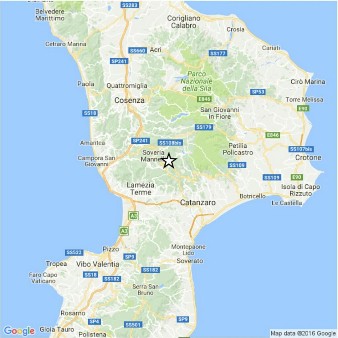 Terremoto in Calabria: scossa di magnitudo 3.4 a Catanzaro