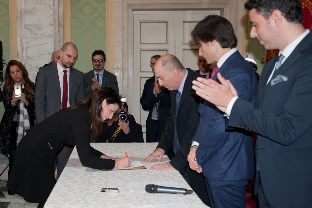 firma Marcianò - seconda Giunta