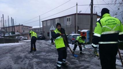 Catanzaro gruppo protezione civile neve