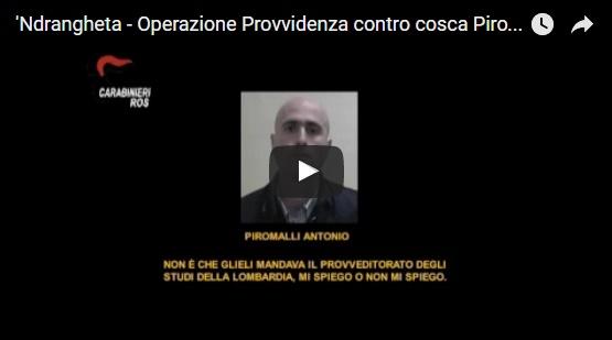 Operazione Provvidenza contro cosca Piromalli